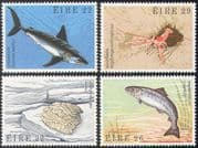 Ireland 1982 Sharks/ Salmon/ Prawn/ Oyster/ Marine/ Fish/ Nature 4v set (n41298)