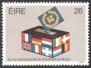 Ireland 1984 European Assembly Election/ Ballot Box/ Flags/ Europe 1v (n21582)