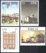 Ireland 1985 Air Balloon/ Observatory/ Buildings/ Astronomy /Art/ Ships 4v set n14024