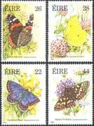 Ireland 1985 Butterflies/ Insects/ Nature/ Conservation/ Butterfly 4v set (n14030)
