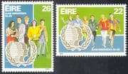 Ireland 1985 International Youth Year/ Students/ Workers 2v set (n14023)