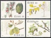 Ireland 1985 Irish Trees/ Plants/ Nature/ Flowers/ Fruit/ Leaves 4v set (n41293)