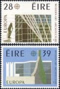 Ireland 1987 Europa/ Church/ Statue/ Buildings/ Architecture/ Animation 2v set  (n14607f)
