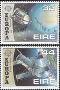Ireland 1991 Europa/ Space/ Halley's Comet/ Giotto/ Hubble Telescope/ Astronomy 2v set (n14620)