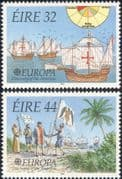 Ireland 1992 Europa/ Sailing Ships/ Columbus/ America/ Explorers/ Transport  2v set (n14560)
