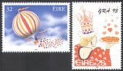 Ireland 1993 Greetings/ Air Balloon/ Flight/ LOVE/ Hearts/ Animation 2v set (n14288)