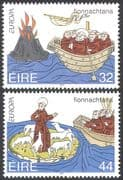 Ireland 1994 Saint Brendan/ Boat/ Volcano/ Sheep /Religion/ Animation 2v set (n14310)