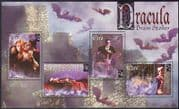 Ireland 1997 Dracula/ Bats/ Wolf/ Animals/ Books/ Literature/ Cinema 4v m/s (b7074)