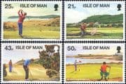 Isle of Man 1997  Golf Courses/ Golfing/ Sports/ Games/ Tourism  4v set (n18504)