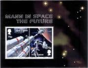 Isle of Man 2003  MANN in SPACE/ Mars/ Rocket/ Astronauts/ Planets 2v m/s (s4469)