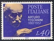 Italy 1967 Arturo Toscanini/ Orchestral Conductor/ Musicians/ Music/ People 1v (n41661)