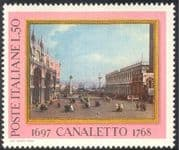 Italy 1968 Canaletto/ Art/ Artists/ Paintings/ Venice/ Buildings/ Architecture/ People 1v (n43079)
