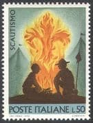 Italy 1968 Scouts/ Scouting/ Camp Fire/ Badge/ Youth/ Leisure/ People 1v (n41689)