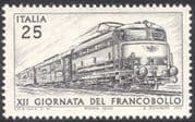 Italy 1970 Stamp Day/ Trains/ Electric Locomotives/ Railways/ Rail/ Postal Transport 1v (n43034)