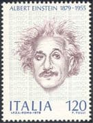 Italy 1979 Albert Einstein/ Science/ Scientists/ People/ Space/ Nobel Prize/ Mathematics 1v (n44156)