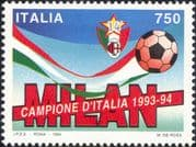 Italy 1994 Milan Football Champions/ Sports/ Games/ Soccer 1v (n45067j)