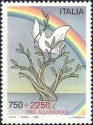 Italy 1995 Flood Victims Relief Fund/ Dove/ Rainbow/ Olive Tree/ Birds/ Nature 1v (n46137)