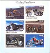 Ivory Coast 2004 Harley Davidson/ Motor Cycles/ Motorbikes/ Bikes IMPERFORATE sht (cs) (n10670)