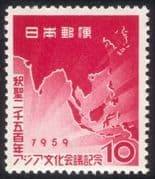Japan 1959 Buddha/ Congress/ Religion/ Map of Asia/ People 1v (n26719)