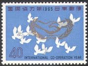 Japan 1965 ICY/ Year of Co-operation/ Emblem/ Doves/ Peace/ Birds/ Nature 1v (n24197)