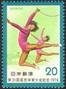 Japan 1976 Gymnastics/ Sports/ National Athletics Meeting/ Stadium/ Buildings 1v (n28349)