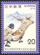 Japan 1978 Baseball/ Softball/ Sports/ National Athletics Meeting/ Mt Yarigatake/ Mountains 1v (n28347)