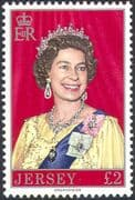 Jersey 1976 Queen Elizabeth II /QEII/ Royalty/ Royal/ People/ Coats of Arms high value 1v (n22220)