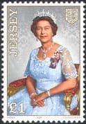Jersey 1986 Queen Elizabeth II /QEII/ 60th Birthday/ Royalty/ People 1v (n22447a)