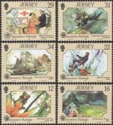 Jersey 1988 Raleigh/ Frog/ Medical/ Red Cross/ Diver/ Ship/ Climbing 6v set (n26063)