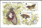 Jersey 1995 Butterflies/ Insects/ Nature/ Butterfly/ StampEx 2v m/s (b5432)