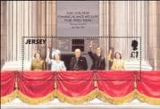 Jersey 1995 WWII/ Liberation/ Winston Churchill/ King George/ VE Day/ Royalty 1v m/s (s691)