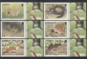 Jersey 2007 Animals  /  Wildlife  /  Rodents  /  Rabbits  /  Mouse  /  Rat  6v set (n35633)
