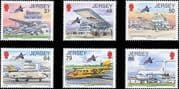 Jersey 2012 Airport/ Planes/ Aircraft/ Aviation/ Transport/ Buildings 6v set (n21777)