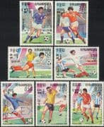 Kampuchea 1985 Football/ WC/ World Cup/ Mexico'86/ Sports/ Games/ Soccer 7v set (b8082)