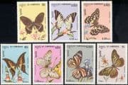 Kampuchea 1986 Butterflies/ Flowers/ Orchids/ Insects/ Nature 7v set (b8064)