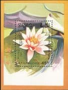 Kampuchea 1989 Aquatic Plants/ Flowers/ Nature/ Water Lily 1v m/s (s4076)