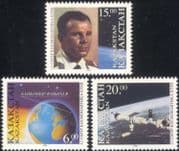 Kazakhstan 1996 Yuri Gagarin/ Baikonur/ Space Station/ Astronauts/ Cosmonautics Day/ Transport 3v set (n44804)