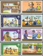 Kenya 1982 Baden Powell/ Scouts/ Scouting/ Tree Planting/ Girl Guides 8v set (n40086)