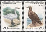 Korea 1976 Cinereous Vulture/ Tundra Swan/ Birds/ Nature Protection/ Wildlife  2v set  (n27361)
