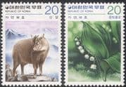 Korea 1979 Common Goral/ Lily of the Valley/ Animals/ Flowers/ Nature Protection/ Conservation/ Environment 2v set (n27364)