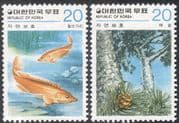 Korea 1979 Mandarinfish/ Fish/ Pine Tree/ Plants/ Nature Conservation/ Wildlife/ Environment 2v set (n27362)