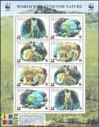 Kyrgyzstan 1999  WWF/ Corsac Fox/ Holograms/ Animals/ Nature/ Wildlife/ Foxes  8v sht (n16216)