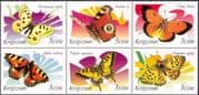 Kyrgyzstan 2000 Butterflies/ Insects/ Nature/ Conservation/ Butterfly 6v blk (s2567)