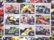 Kyrgyzstan 2001 Motor Cycles/ Motor Bikes/ Racing/ Sports/ Moto-GP 9v sht (cs) (n11162)