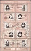 Kyrgyzstan 2003 History/ Heritage/ Rulers/ Leaders/ Military /People 10v sht (s2216w)