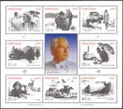 Kyrgyzstan 2009 Chyngyz Aitmatov/ Writer/ Steam Engine/ Trains/ Rail/ Horses/ Truck/ Transport 8v sheet (s2216x)