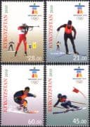 Kyrgyzstan 2010 Olympic Games/ Olympics/ Sports/ Shooting/ Biathlon/ Skiing 4v set (n44586)