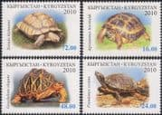Kyrgyzstan 2010 Tortoises/ Turtles/ Animals/ Nature/ Conservation/ Wildlife/ Endangered Species 4v set (b5886b)