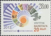 Kyrgyzstan 2013 Kysgyzstan Currency 20th Anniversary/ Money/ Commerce/ Business 1v (s2217c)