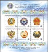 Kyrgyzstan 2013 Shanghai Co-operation Organization/ State Arms/ Insignia/ Heraldry/ Coats-of-Arms 6v m/s (b6449a)